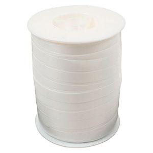Wstążka - plain szeroka Kolor biały  10 mm x 250 m