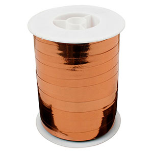 Wstążka - shiny szeroka Kolor miedziany  10 mm x 250 m
