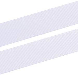 Prążkowana wstążka z satyny Kolor biały, Grosgrain  16 mm x 91,4 m
