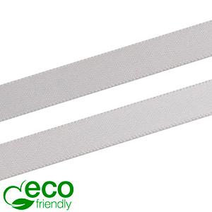 ECO satijnlint, smal Zilver  9 mm x 91,4 m
