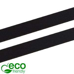 ECO Satin ribbon, slender Black  9 mm x 91,4 m