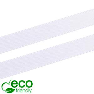 ECO Satinbånd, smalt Hvid  9 mm x 91,4 m