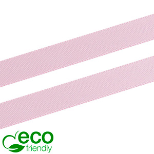 ECO Satinbånd, smalt Rosa  9 mm x 91,4 m