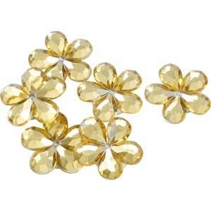 Blumen klein (150 Stück) Gold  x 18