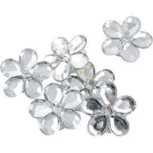 Blumen klein (150 Stück) Silber  x 18