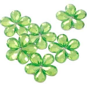 Petites fleurs adhésives brillantes, 150 pcs Plastique brillant vert citron  x 18