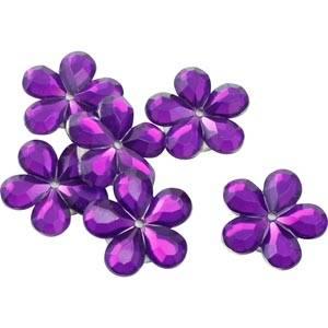 Petites fleurs adhésives brillantes, 150 pcs Plastique brillant violet  x 18