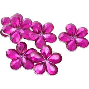 Petites fleurs adhésives brillantes, 150 pcs Plastique brillant certise  x 18
