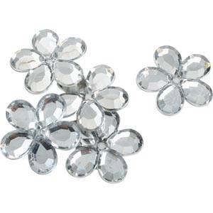 150 Flowers, large Silver  x 25