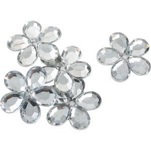 150 szt. dużych kwiatków Kolor srebrny  x 25