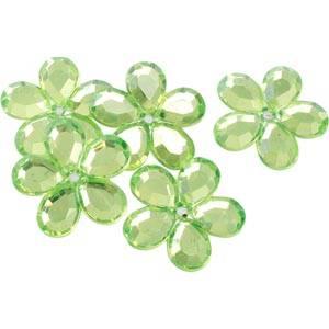 Grandes fleurs adhésives brillantes, 150 pcs Plastique brillant vert citron  x 25