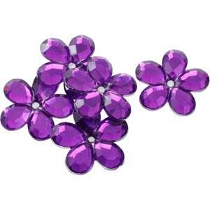 150 szt. kwiatków, dużych Kolor fioletowy  x 25