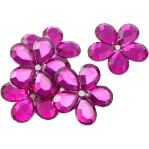 Grandes fleurs adhésives brillantes, 150 pcs Plastique brillant certise  x 25