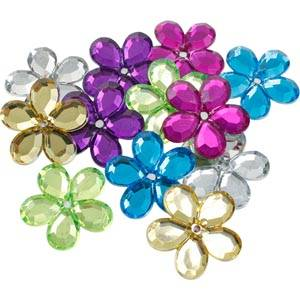 150 Flowers, large Assorted colours  x 25
