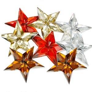 Étoiles adhésives brillants, 150 pcs