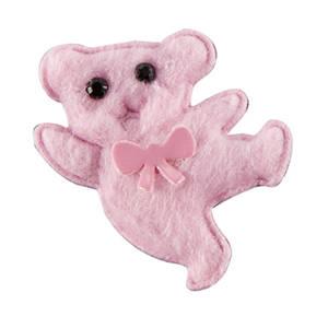 Filz Teddybären (150 Stück) Rosa 38 x 38