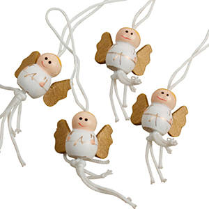 Christmas angel with string, 100 pcs.
