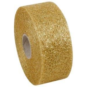 Mønstret metallic tyl Guld  50 mm x 50 m
