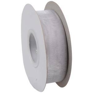Organza ribbon Silver grey  25 mm x 45,7 m