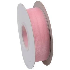Wstążka z organdyny Kolor  różowy  25 mm x 45,7 m