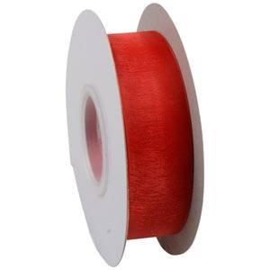 Organza ribbon Red  25 mm x 45,7 m
