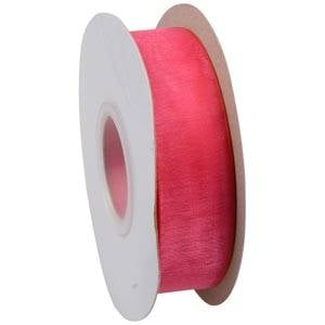 Organza ribbon Bright Pink  25 mm x 45,7 m