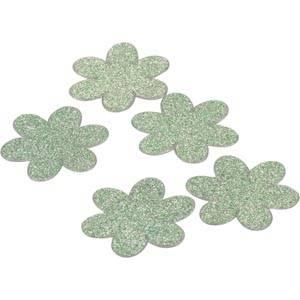 Dekoblumen mit Glitter (150 Stück)
