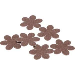 Decoratie Bloemetjes met plakstrip, 150 stk. Bruin, met glitters 20 x 20