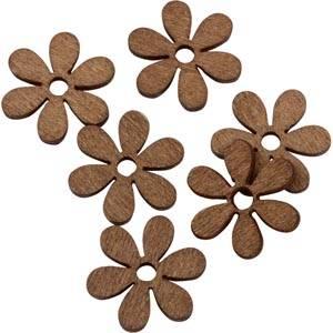 Drewniane kwiatuszki 150 sztuk