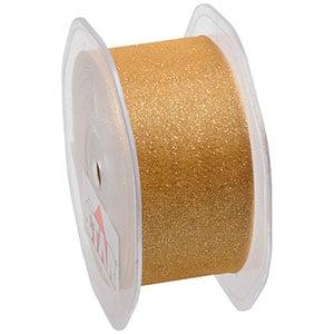 Glitter Organza Guld  38 mm x 15 m