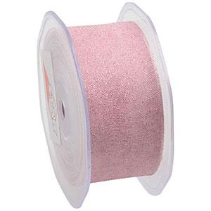 Glitter Organza Rosa  38 mm x 15 m