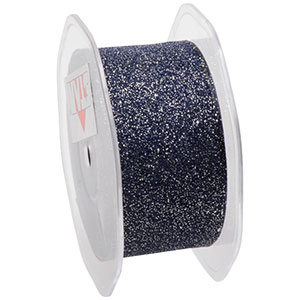 Glitter Organza Mörkblå  38 mm x 15 m