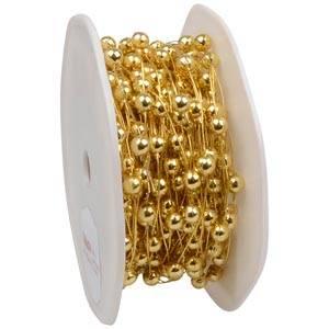 Guirlande de perles métallisées
