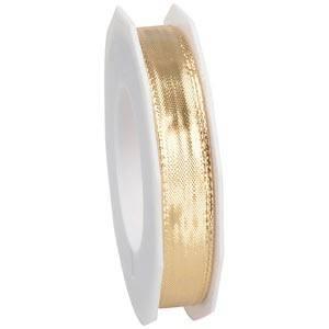 Metaliczna wstążka Kolor złoty, wąska  15 mm x 20 m