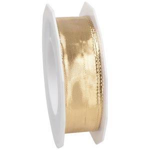 Metaliczna wstążka Kolor złoty,szeroka  25 mm x 20 m