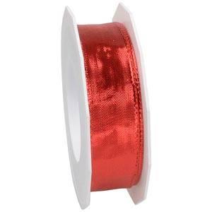Metaliczna wstążka Kolor czerwony,szeroka  25 mm x 20 m