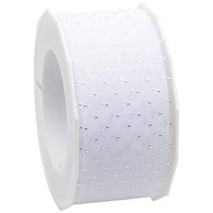Organza ribbon with polka dots