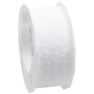 Tulle Band mit Tupfen Weißes Band mit weißen Punkten  40 mm x 25 m