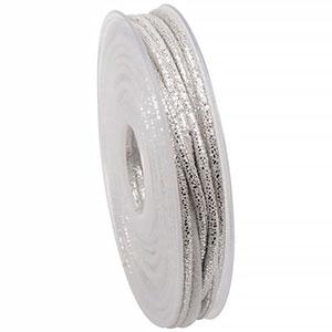 Ruban cordon avec facettes métalliques