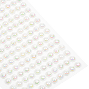 Large Decorative Pearls with Adhesive Back 150 pearls per sheet  x 8