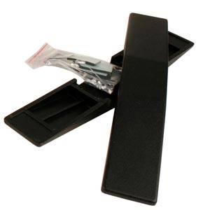 2x Voet voor papierrolhouder Zwart plastic 300 x 48