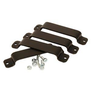 4 Clips for giftpaper holder Black plastic 100 x 20