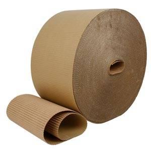 Geribbeld karton Bruin  200 mm x 70 m