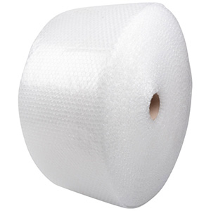 Bubble Wrap on Roll, Small Clear bubble wrap with small bubbles  250 mm x 100 m