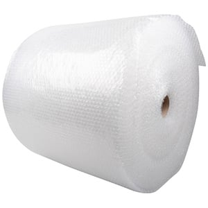 Bubble Wrap on Roll, Large Clear bubble wrap with small bubbles (LDPE - 4)  500 mm x 100 m