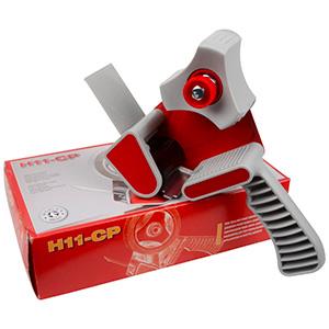 Tapepistool 50mm, draagbaar Grijs plastic met sterk metallic verbindingsplaatj