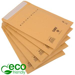 Milieuvriendelijke enveloppen, Medium Bruin - luchtkussenenvelop, 100% gerecycled papier 195 x 265 (260 x 165 mm)