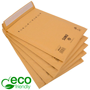 Eco-friendly Mailers, Large Brown - padded envelope, 100% recycled paper 245 x 338 (335 x 215 mm)