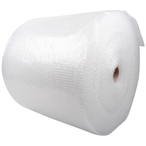 Bubble Wrap on Roll, Large Clear bubble wrap with small bubbles (LDPE - 4)  500 mm x 150 m