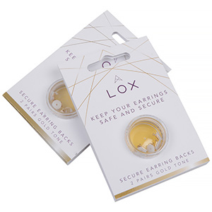 Veiligheidsslotjes voor oorstekers (LOX), 2 paar